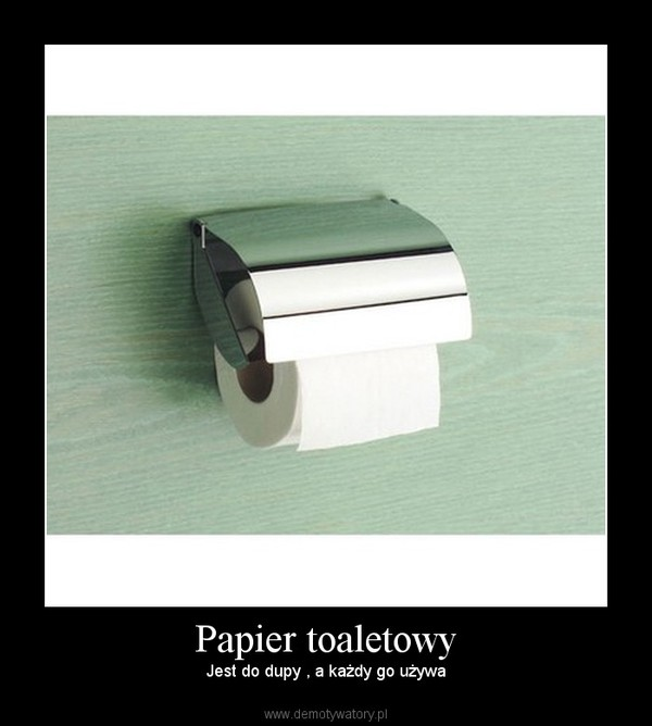 Papier toaletowy – Jest do dupy , a każdy go używa