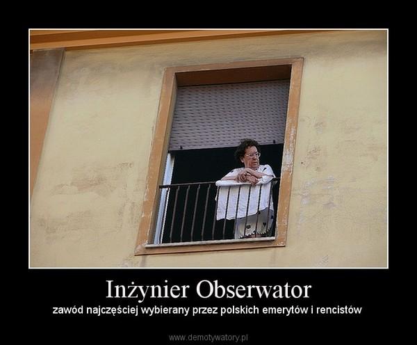 Inżynier Obserwator – zawód najczęściej wybierany przez polskich emerytów i rencistów