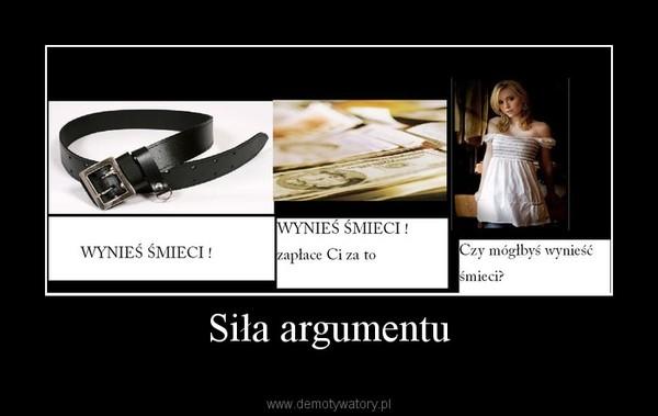 Siła argumentu –