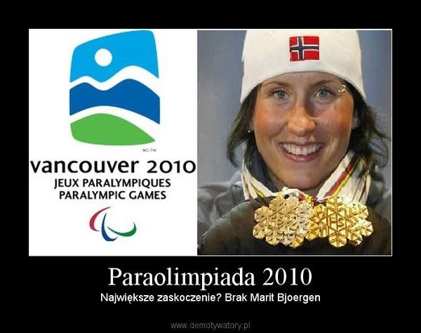 Paraolimpiada 2010 – Największe zaskoczenie? Brak Marit Bjoergen