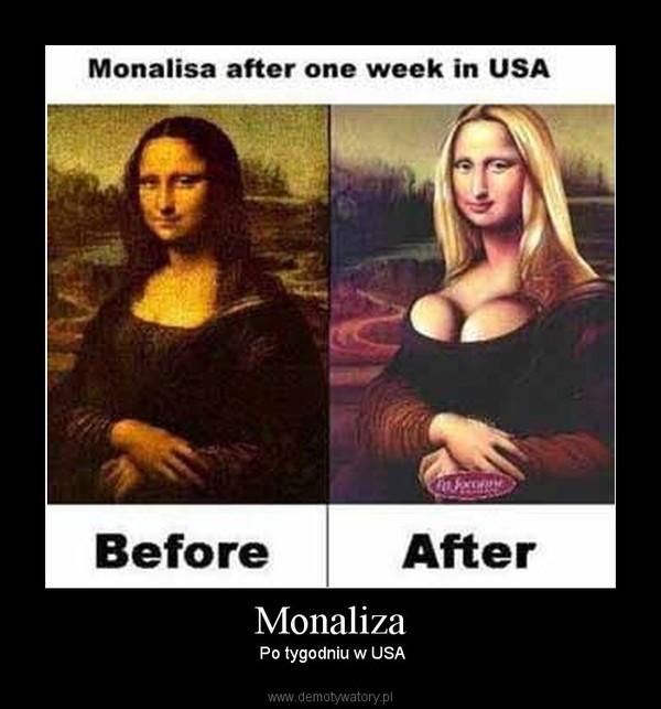 Monaliza –  Po tygodniu w USA
