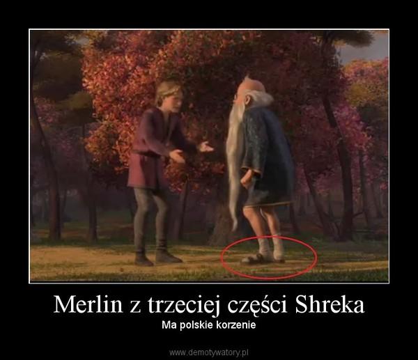 Merlin z trzeciej części Shreka – Ma polskie korzenie