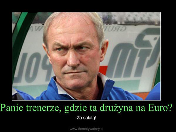 Panie trenerze, gdzie ta drużyna na Euro? – Za sałatą!
