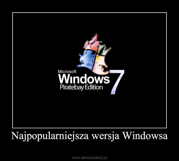Najpopularniejsza wersja Windowsa –