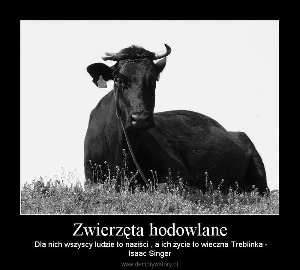 Zwierzęta hodowlane –  Dla nich wszyscy ludzie to naziści , a ich życie to wieczna Treblinka -Isaac Singer