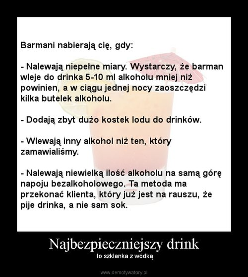 Najbezpieczniejszy drink