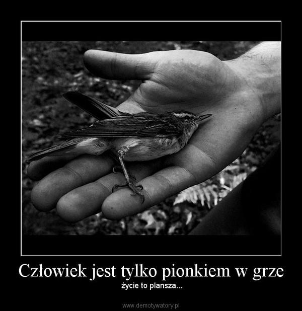Człowiek jest tylko pionkiem w grze – życie to plansza...