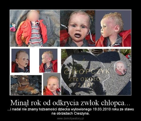 Minął rok od odkrycia zwłok chłopca... – ...i nadal nie znamy tożsamości dziecka wyłowionego 19.03.2010 roku ze stawuna obrzeżach Cieszyna.