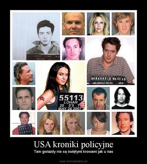 USA kroniki policyjne