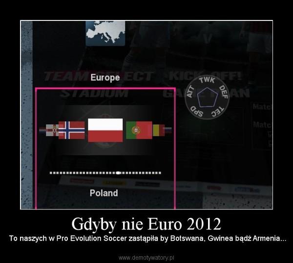 Gdyby nie Euro 2012 – To naszych w Pro Evolution Soccer zastąpiła by Botswana, Gwinea bądź Armenia...