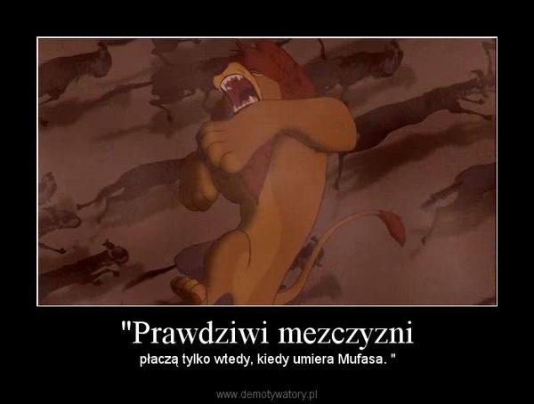 """""""Prawdziwi mezczyzni – płaczą tylko wtedy, kiedy umiera Mufasa. """""""
