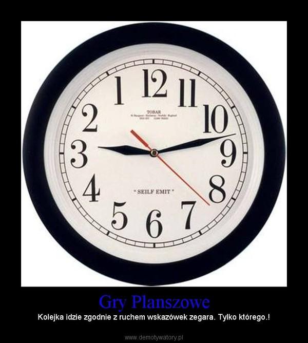 Gry Planszowe – Kolejka idzie zgodnie z ruchem wskazówek zegara. Tylko którego.!