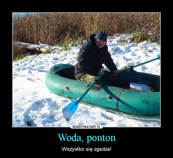 Woda, ponton – Wszystko się zgadza!