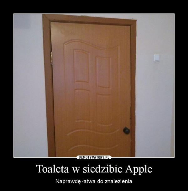 Toaleta w siedzibie Apple – Naprawdę łatwa do znalezienia