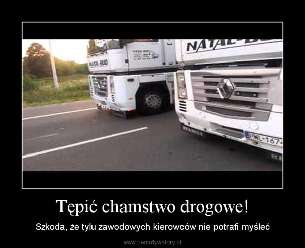 Tępić chamstwo drogowe! – Szkoda, że tylu zawodowych kierowców nie potrafi myśleć