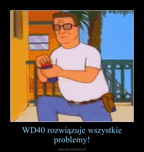 WD40 rozwiązuje wszystkie problemy! –