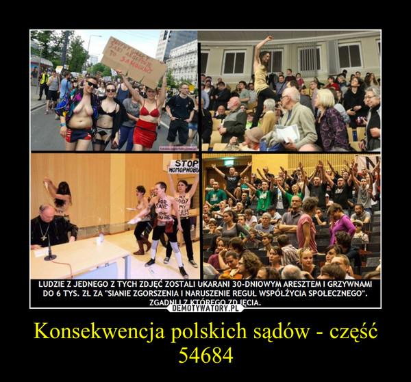 Konsekwencja polskich sądów - część 54684 –