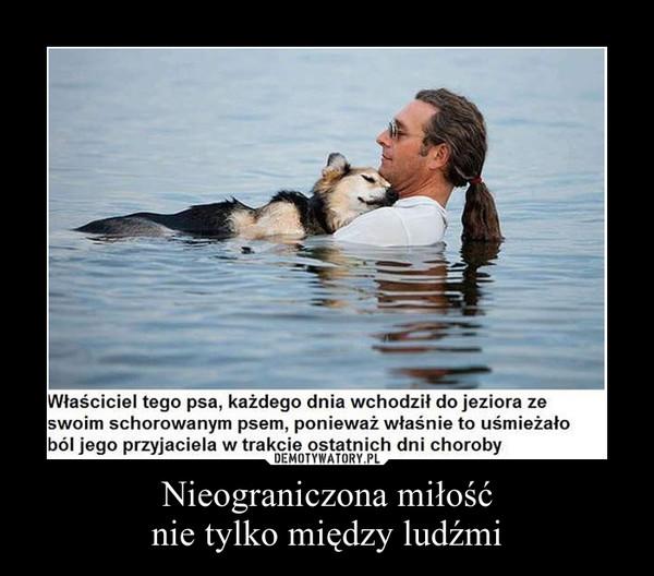 Nieograniczona miłośćnie tylko między ludźmi –