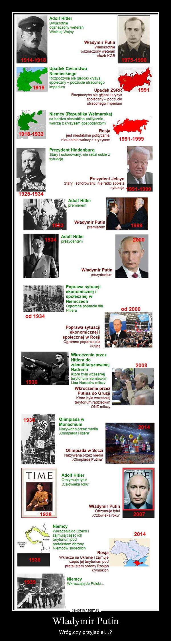 Wladymir Putin – Wróg,czy przyjaciel...?
