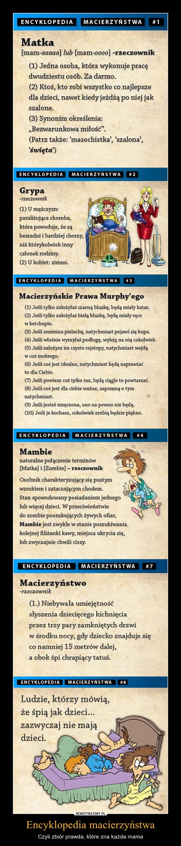 Encyklopedia macierzyństwa – Czyli zbiór prawda, które zna każda mama