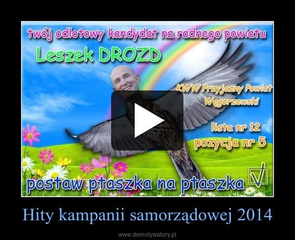 Hity kampanii samorządowej 2014 –