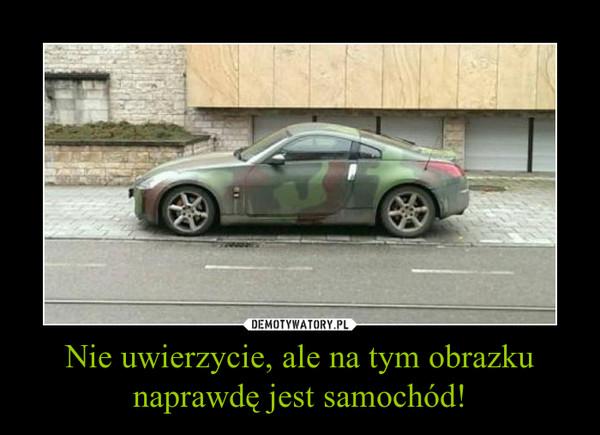 Nie uwierzycie, ale na tym obrazku naprawdę jest samochód! –