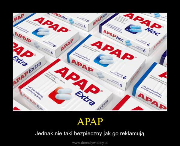 APAP – Jednak nie taki bezpieczny jak go reklamują