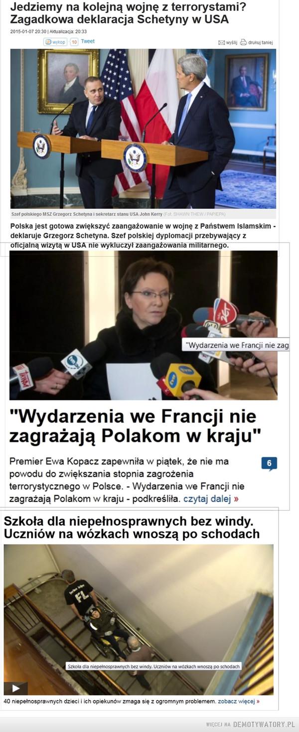 Polityka - sztuka rządzenia państwem – Oto jak wygląda ta sztuka w Polsce w wykonaniu obecnego rządu: 1.Korzyści uzyskać kosztem społeczeństwa2.Społeczeństwo okłamać (np. GPW była już przez IS atakowana). Sunnitów w Polsce jest ok. 31 000 (IS to bojówka sunnicka)3. A społeczeństwo i tak mieć w d**ie..... Aaaach, i tak, to ci ludzie wygrali wybory.