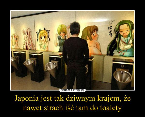 Japonia jest tak dziwnym krajem, że nawet strach iść tam do toalety –