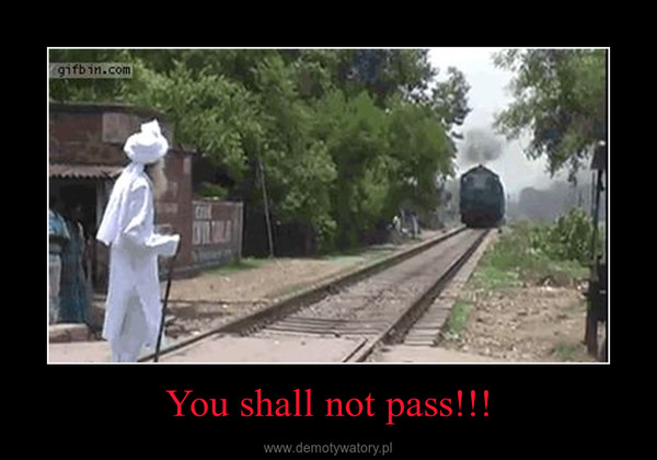 You shall not pass!!! –
