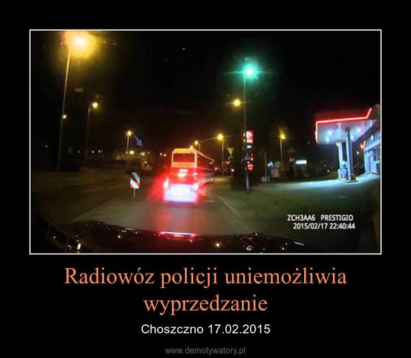 Radiowóz policji uniemożliwia wyprzedzanie – Choszczno 17.02.2015