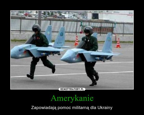 Amerykanie – Zapowiadają pomoc militarną dla Ukrainy