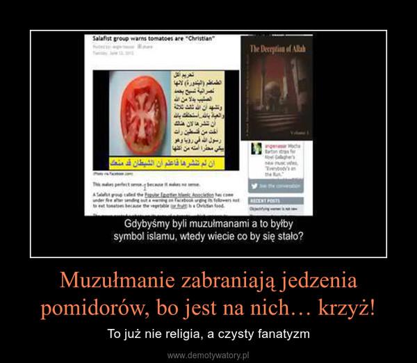 Muzułmanie zabraniają jedzenia pomidorów, bo jest na nich… krzyż! – To już nie religia, a czysty fanatyzm