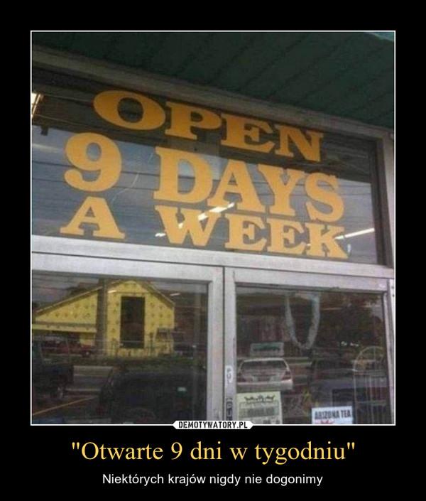 """""""Otwarte 9 dni w tygodniu"""" – Niektórych krajów nigdy nie dogonimy"""