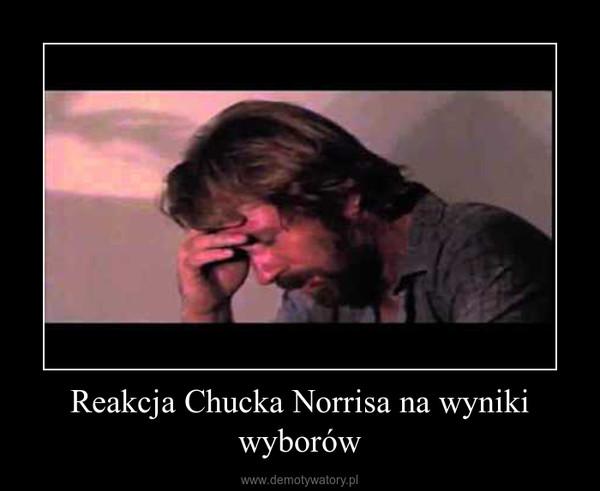 Reakcja Chucka Norrisa na wyniki wyborów –