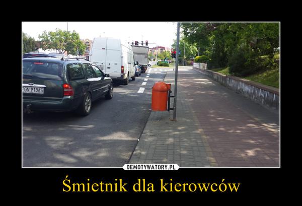 Śmietnik dla kierowców –