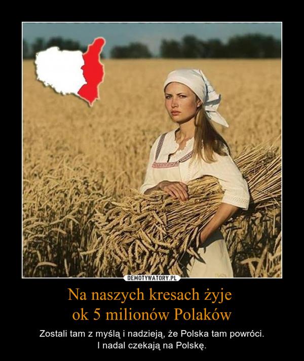Na naszych kresach żyje ok 5 milionów Polaków – Zostali tam z myślą i nadzieją, że Polska tam powróci.I nadal czekają na Polskę.