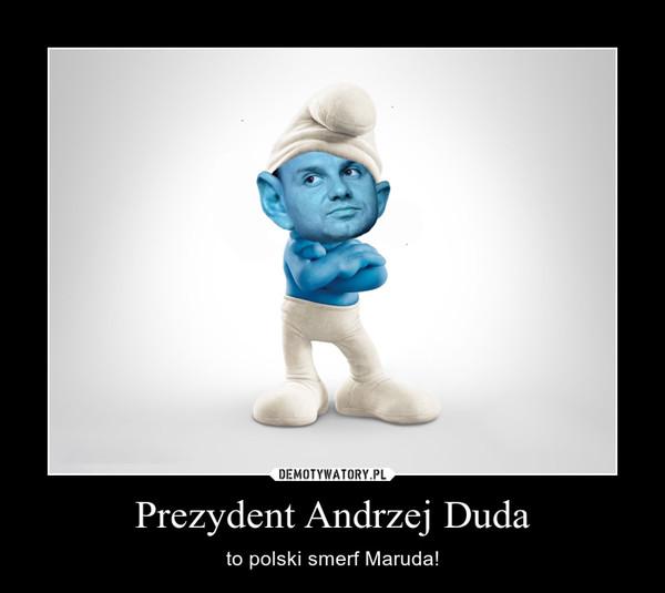 Prezydent Andrzej Duda – to polski smerf Maruda!