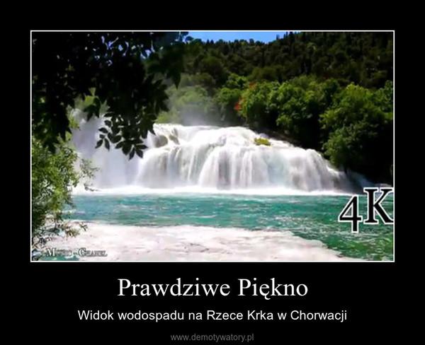 Prawdziwe Piękno – Widok wodospadu na Rzece Krka w Chorwacji