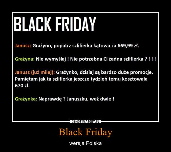Black Friday – wersja Polska