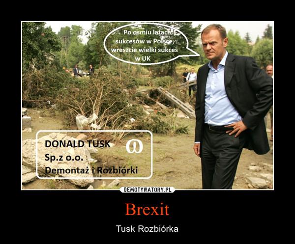 Brexit – Tusk Rozbiórka