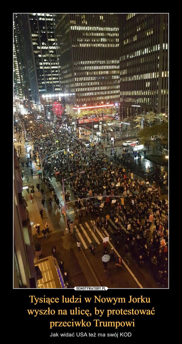 Tysiące ludzi w Nowym Jorku wyszło na ulicę, by protestować przeciwko Trumpowi – Jak widać USA też ma swój KOD