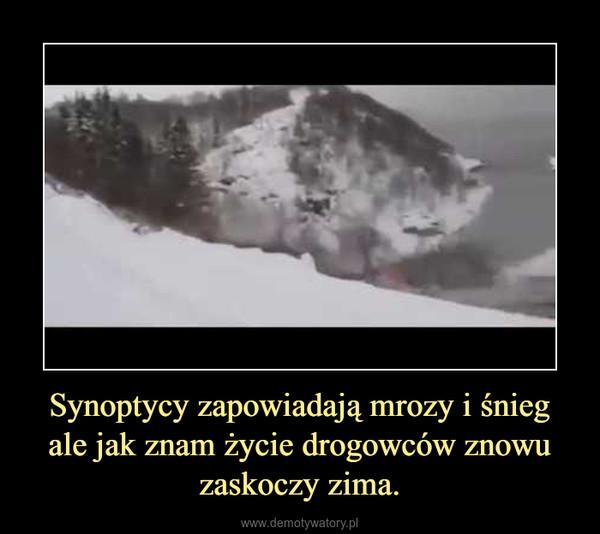 Synoptycy zapowiadają mrozy i śnieg ale jak znam życie drogowców znowu zaskoczy zima. –