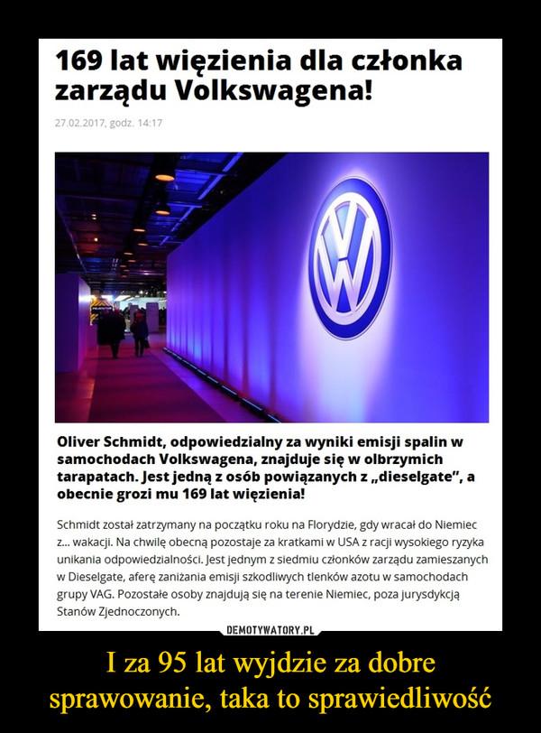 """I za 95 lat wyjdzie za dobre sprawowanie, taka to sprawiedliwość –  169 lat więzienia dla członka zarządu Volkswagena!Oliver Schmidt, odpowiedzialny za wyniki emisji spalin w samochodach Volkswagena, znajduje się w olbrzymich tarapatach. Jest jedną z osób powiązanych z """"dieselgate"""", a obecnie grozi mu 169 lat więzienia!Schmidt został zatrzymany na początku roku na Florydzie, gdy wracał do Niemiec z... wakacji. Na chwilę obecną pozostaje za kratkami w USA z racji wysokiego ryzyka unikania odpowiedzialności. Jest jednym z siedmiu członków zarządu zamieszanych w Dieselgate, aferę zaniżania emisji szkodliwych tlenków azotu w samochodach grupy VAG. Pozostałe osoby znajdują się na terenie Niemiec, poza jurysdykcją Stanów Zjednoczonych."""