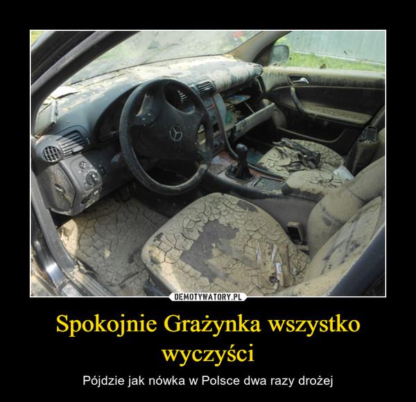 Spokojnie Grażynka wszystko wyczyści – Pójdzie jak nówka w Polsce dwa razy drożej