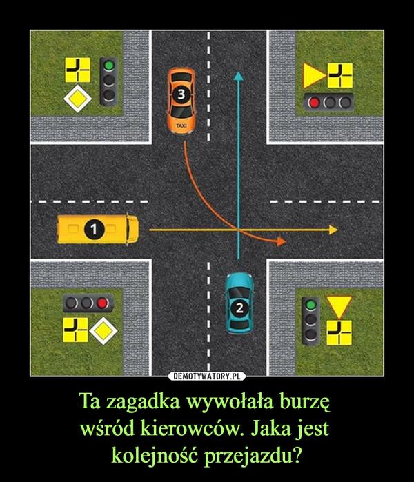 Ta zagadka wywołała burzę wśród kierowców. Jaka jest kolejność przejazdu? –