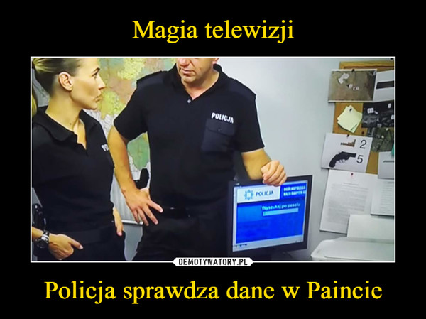 Policja sprawdza dane w Paincie –