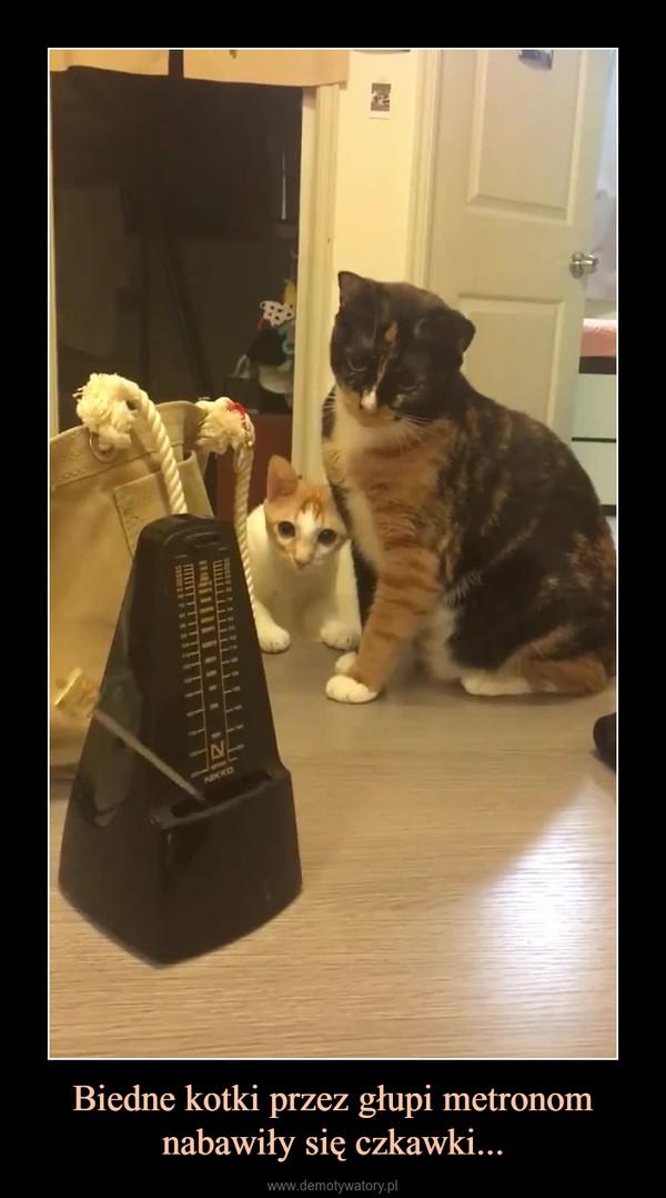 Biedne kotki przez głupi metronom nabawiły się czkawki... –