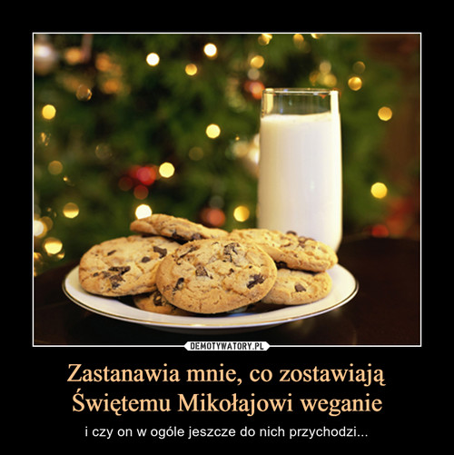 Zastanawia mnie, co zostawiają Świętemu Mikołajowi weganie