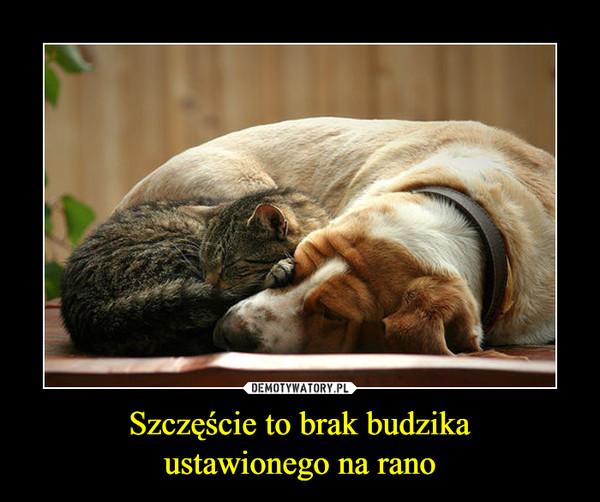 Szczęście to brak budzikaustawionego na rano –